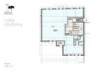 Lokal użytkowy - Rzut - Parter - Apartamenty Solna 27