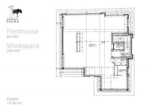 Penthouse - Rzut - Apartamenty Solna 27 Poznań